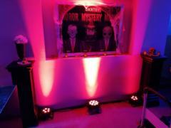 Nasvícení tematických dekorací LED reflektory.