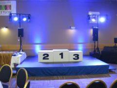 Ozvučení a osvětlení vyhlašování vítězů turnaje a následná party.