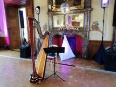 Ozvučení vystoupení sólistů při svatebním obědě.