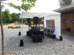 Ozvučení areálu 3,8 kW systémem dB Technologies.