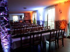 Nasvícení stěn sálu do požadovaných barev.