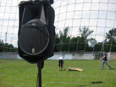 Instalace reproboxu s ozvučením tribuny.