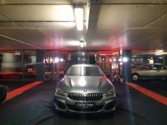 Osvětlení vozu na firemní akci.