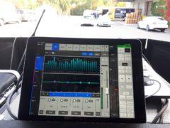 Bezdrátové ovládání zvuku, přes aplikaci v tabletu.