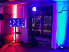 Svatební projekce na velké LED TV 127cm.